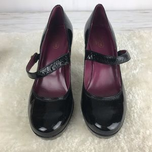 Coach Lilas Black Patent Leather Mary Jane